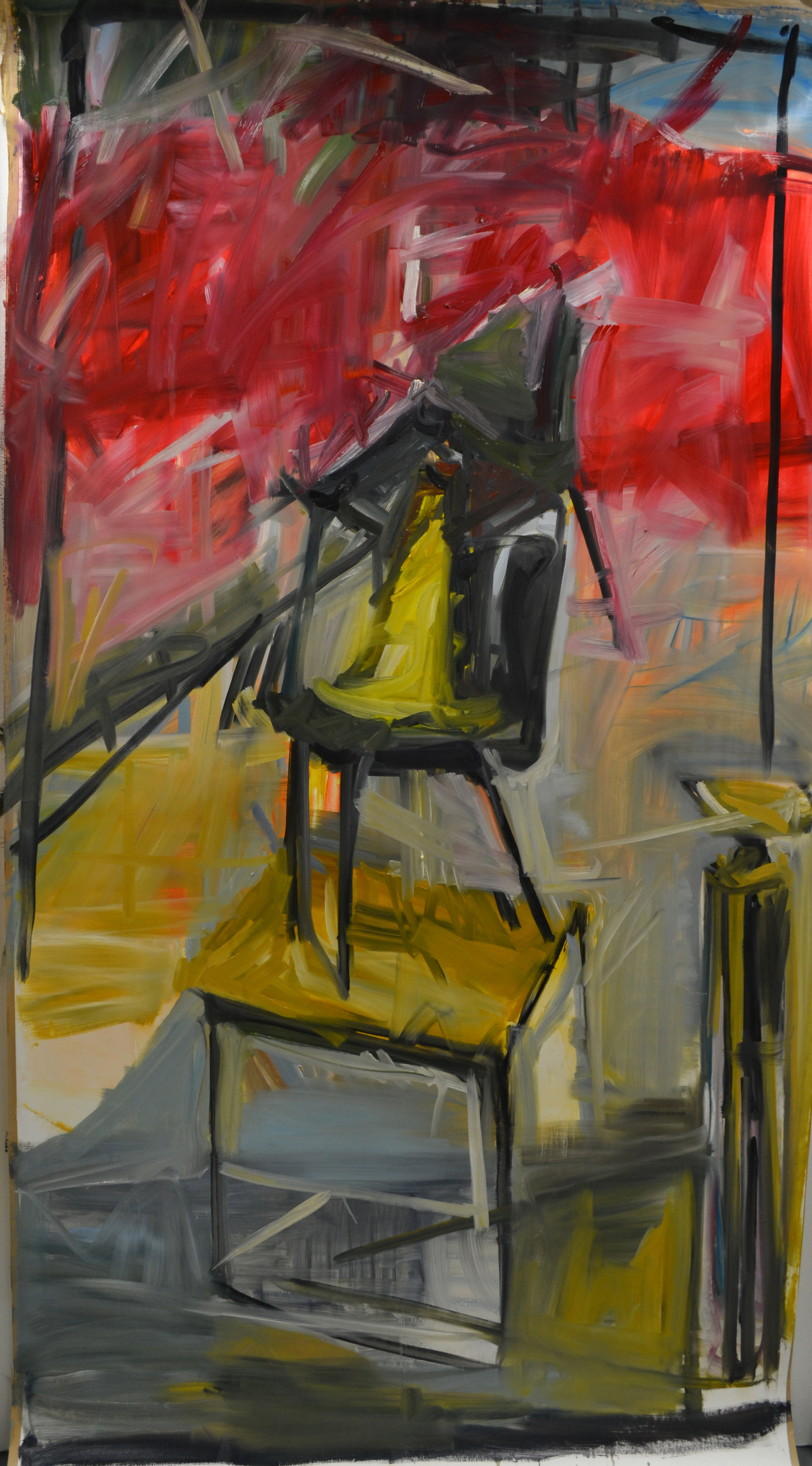 Chair 2 2015, oil on paper, 250 x 150 cm
