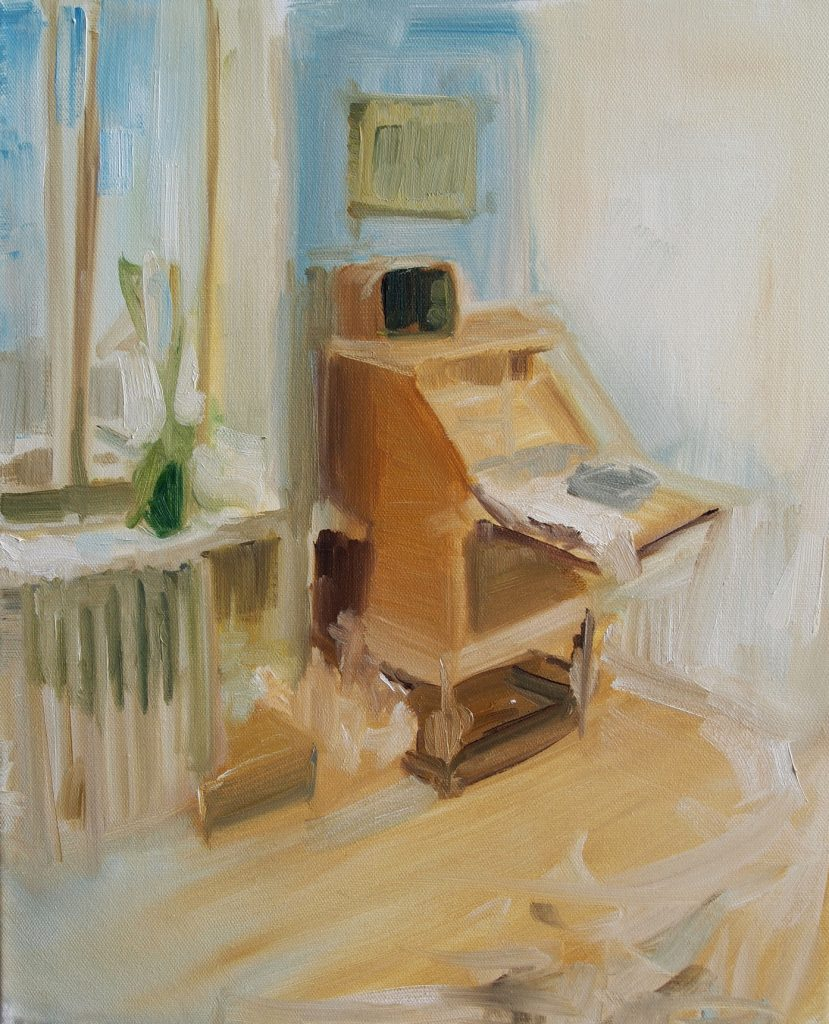102, 2013, 41 x 33 cm, Oil on canvas