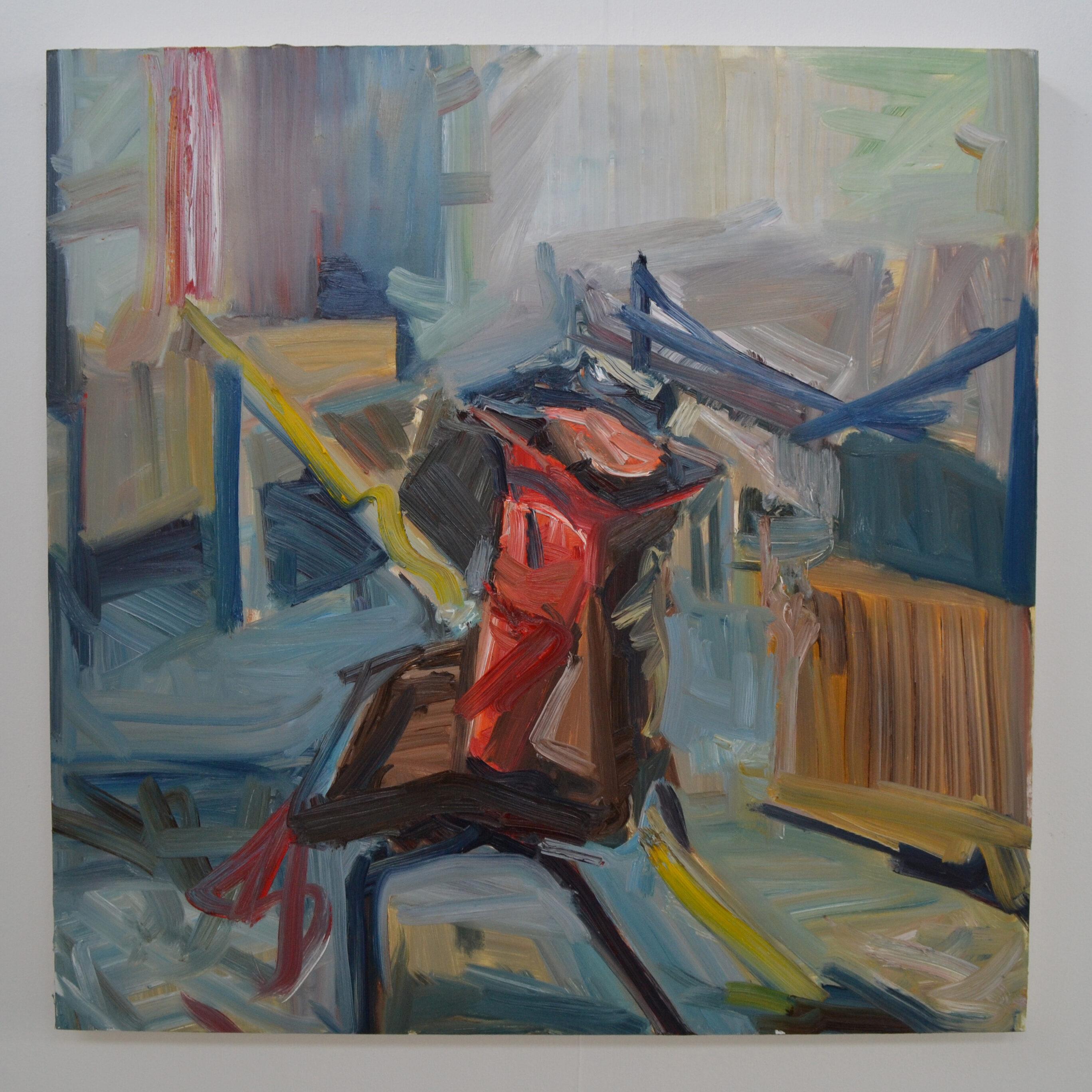 Chair, 2015, 140 x 140 cm, oil on canvas.