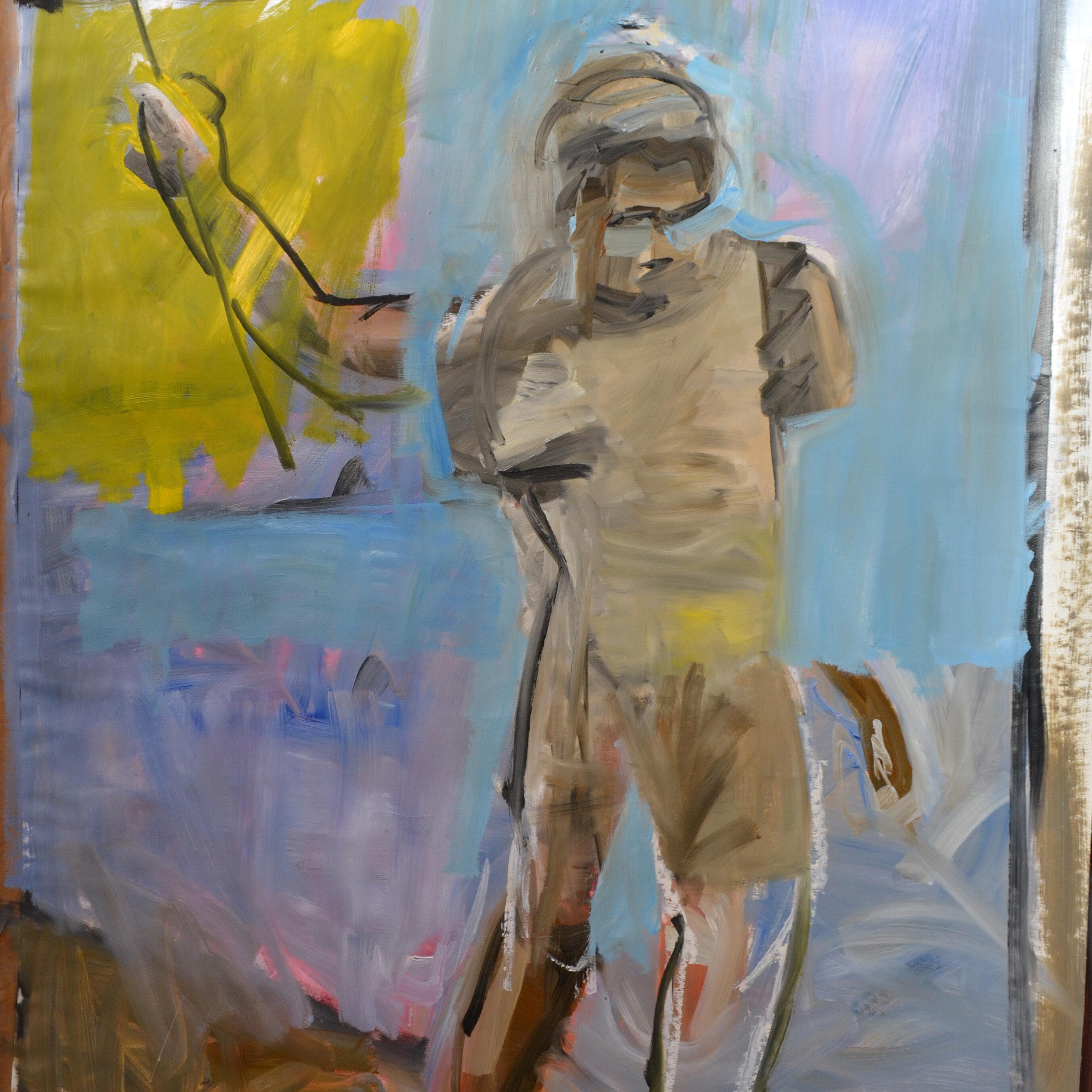 Male 3, 2016, 140 x 80 cm, oil on paper.