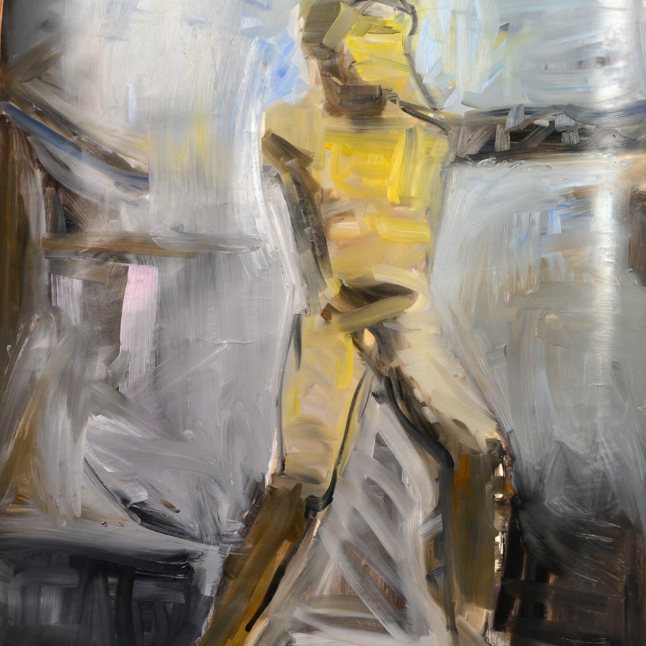 Male 1, 2016, 140 x 80 cm, oil on paper.