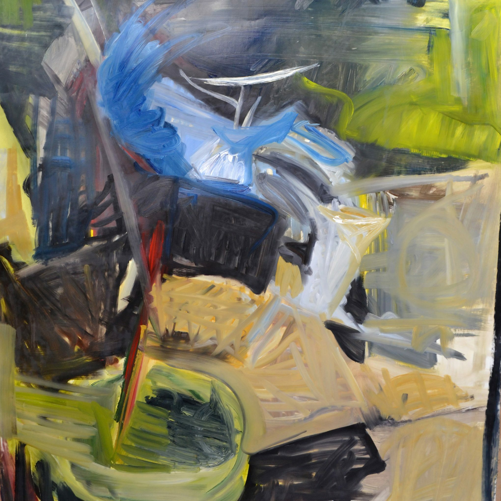 Studio 5 2016-17 210 x 140 cm oil on paper