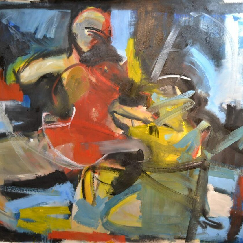 Figure 8, 2016-17, 180 x 250 cm, oil on canvas
